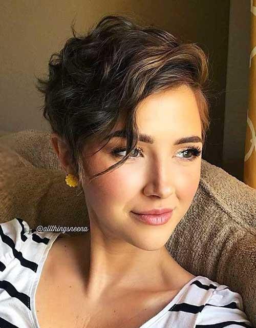 Wavy Bangs Short Haircut 2018