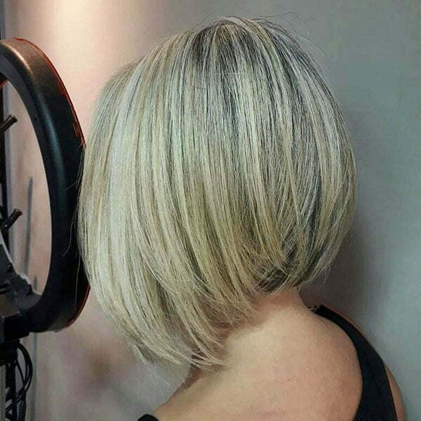 Layered Inverted Bob Haircut