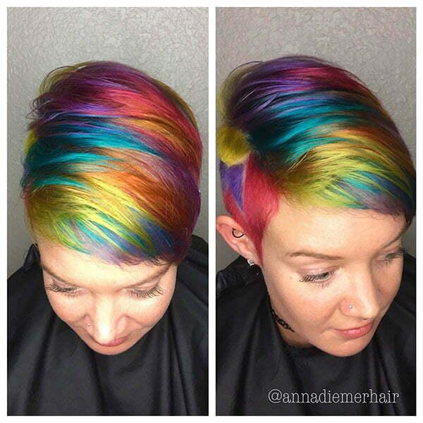 Short Rainbow Hairstyles