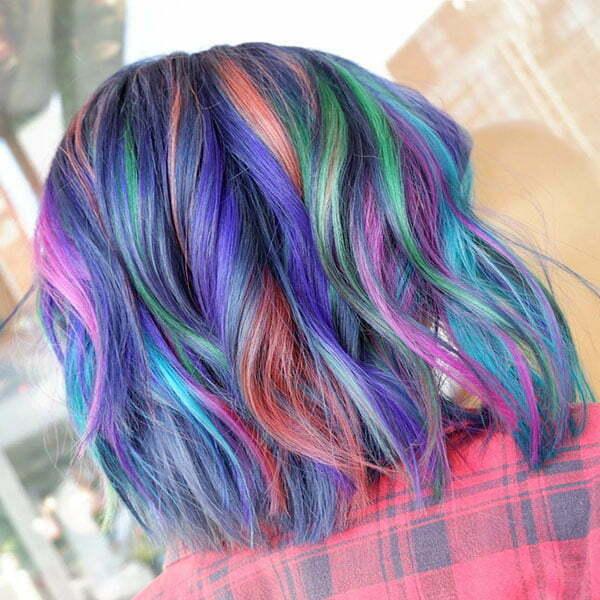 Short Rainbow Hair Images