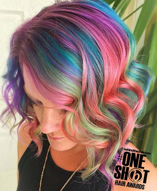 Rainbow Styles On Short Hair