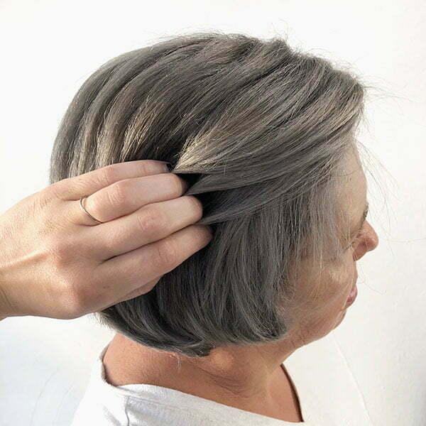 Short And Grey Hair