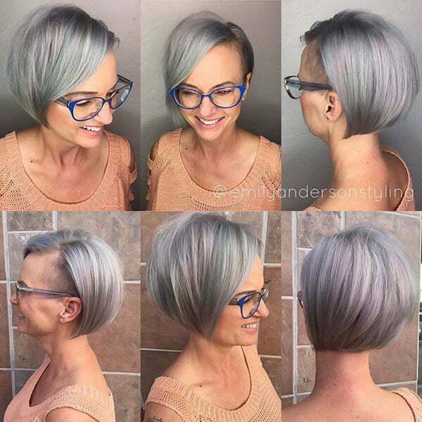 Grey Hair Color For Short Hair
