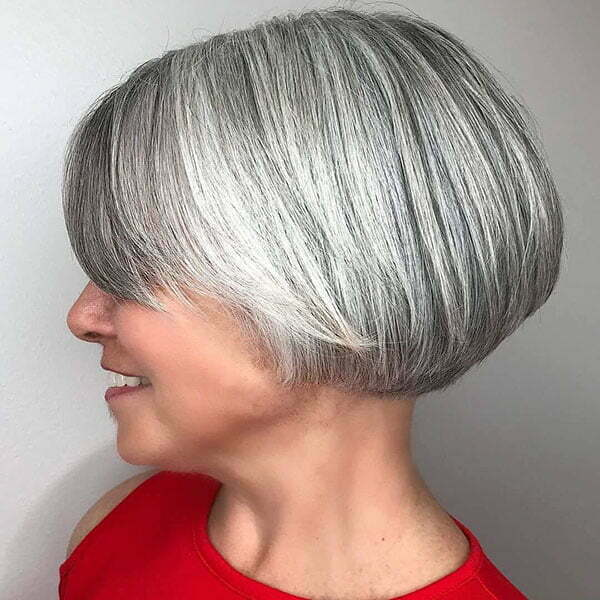Images Of Short Grey Hairstyles