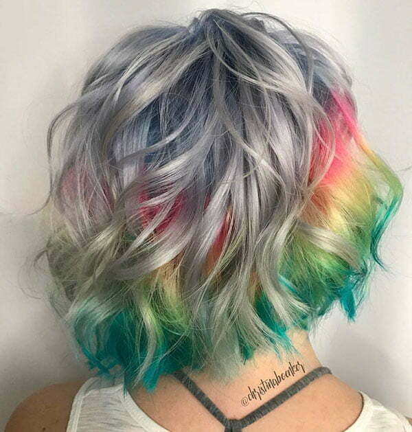 Images Of Short Rainbow Hairstyles