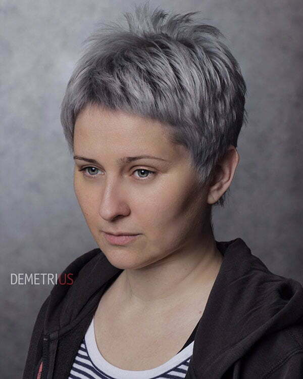 Super Short Grey Hair