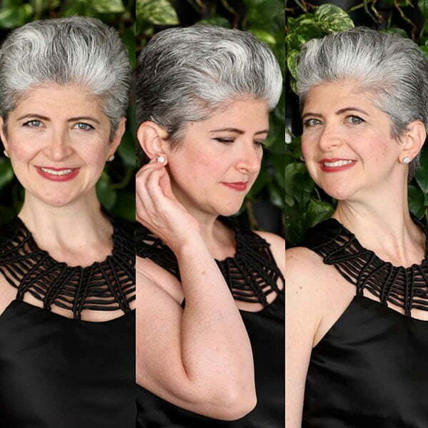 Pictures Of Short Grey Hair