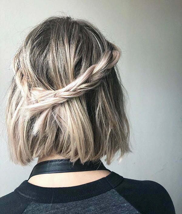 Images Of Short Half Up Hairstyles
