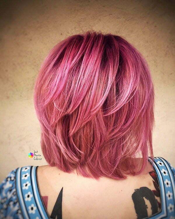 Pink Hair And Short Hair