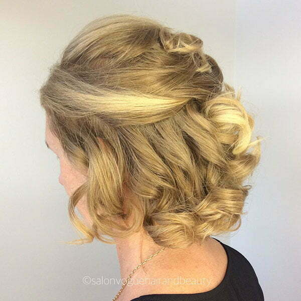 Half Up Hairstyle Pictures For Short Hair