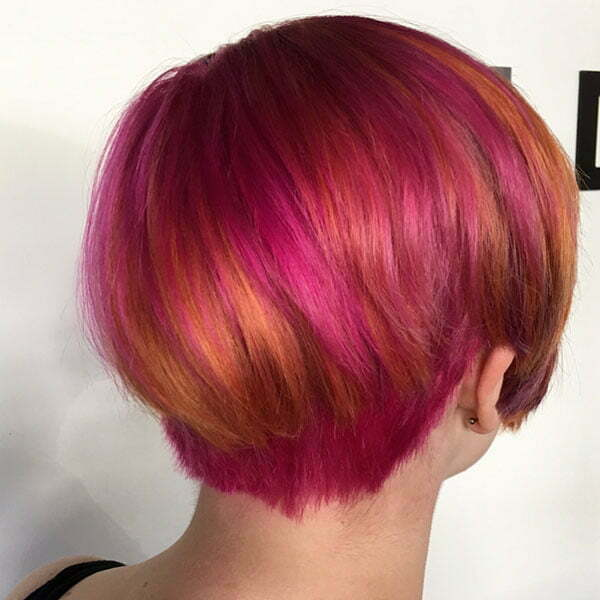 Hairstyles For Short Pink Hair