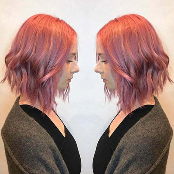 Short Pink Hair Color