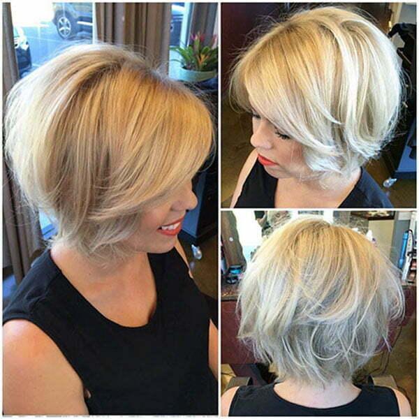 bob cut women's hair