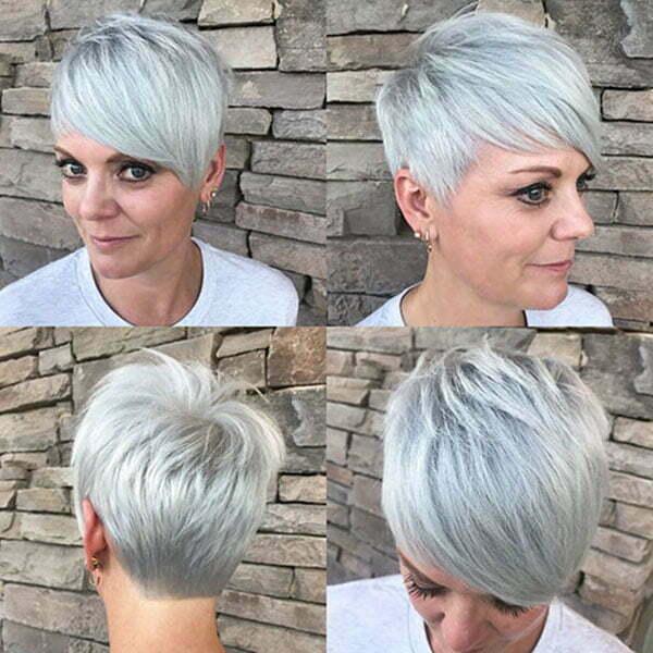 cut pixie hair