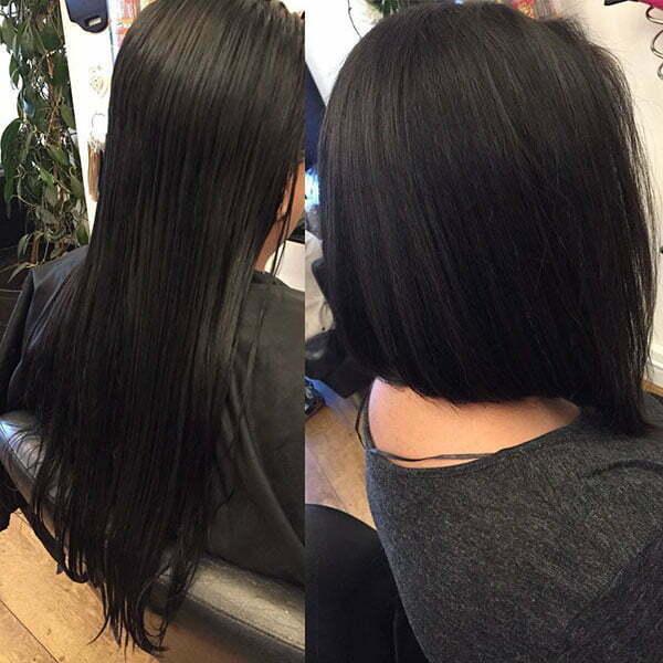 super short bob haircut
