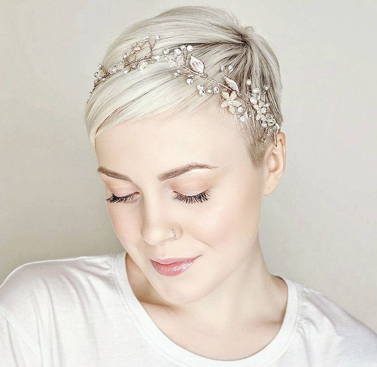 Short Pixie Wedding Hair