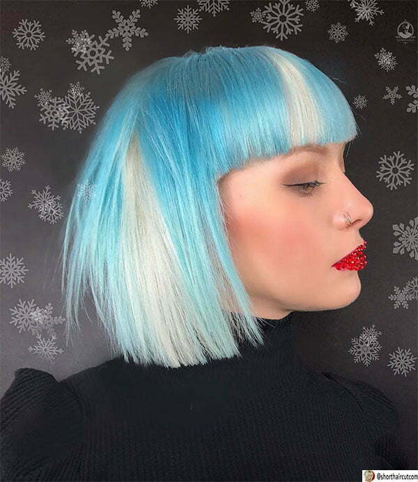 beautiful blue hairstyles