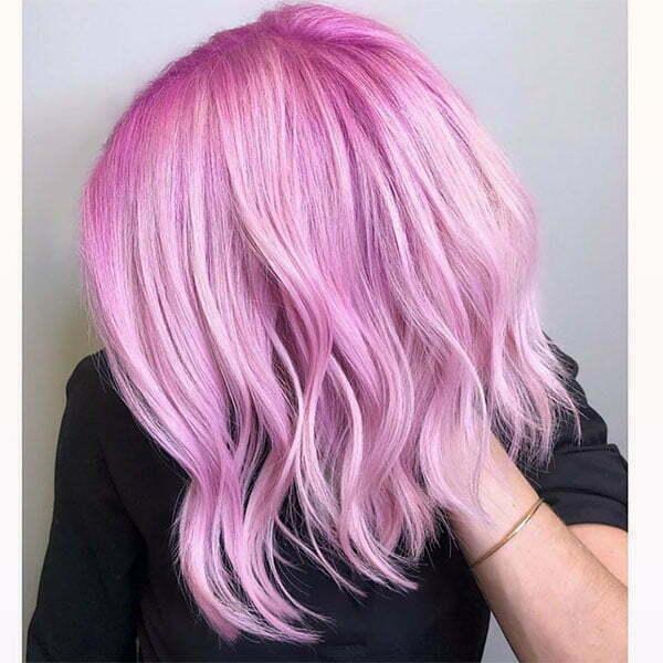 beautiful pink short hair
