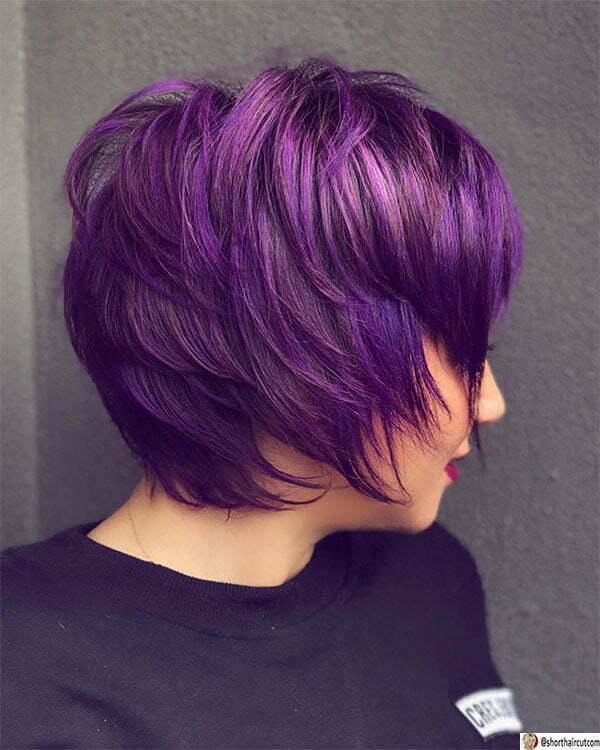 beautiful purple hair
