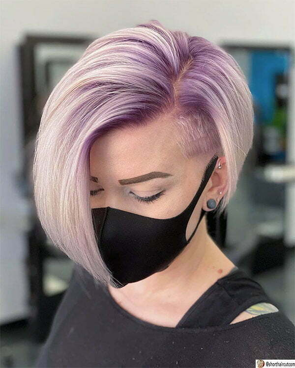 beautiful short purple hair