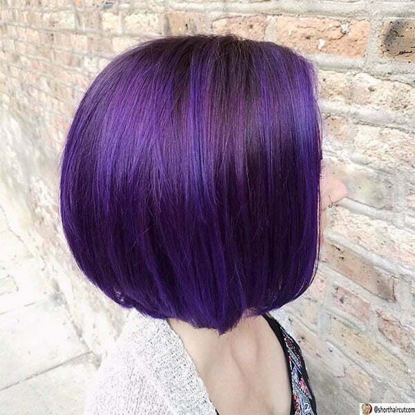 beautiful women with purple hair