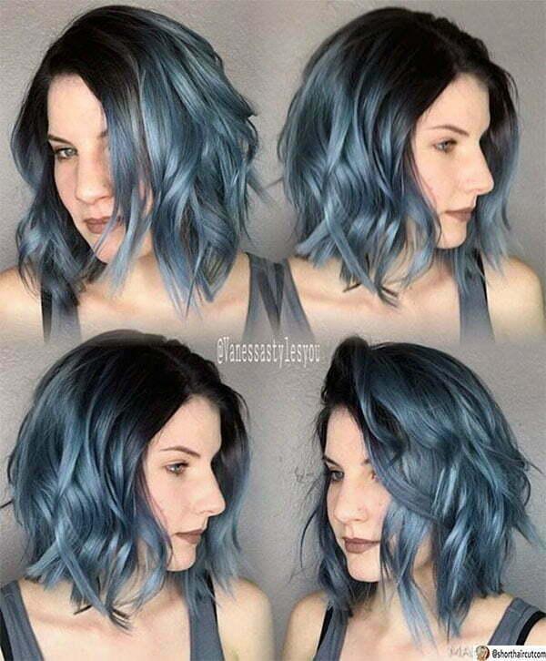 best blue haircuts
