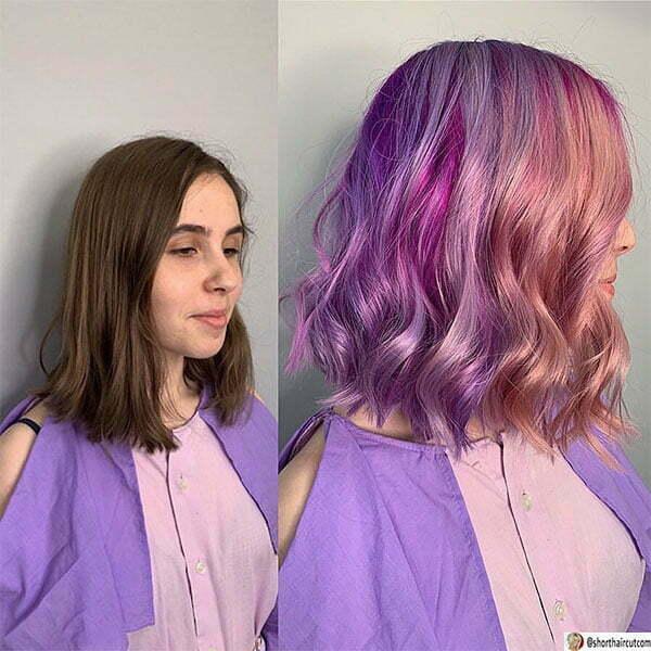 best purple hairstyles
