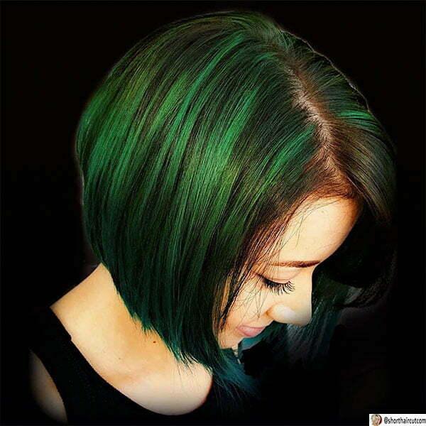 best short green haircuts