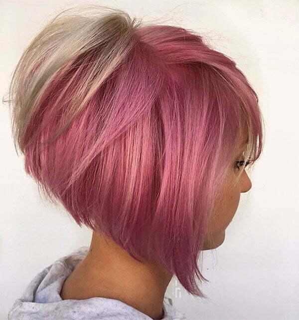 best short pink hair
