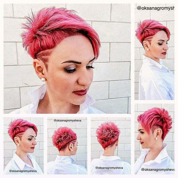 best short pink hairstyles