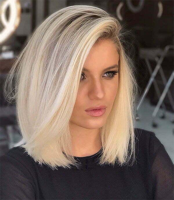 blond hair short cut
