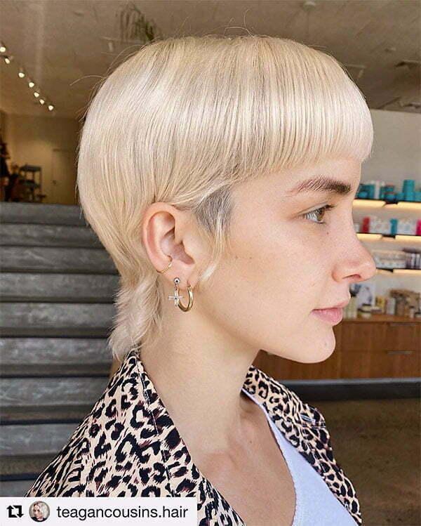 blond haircut