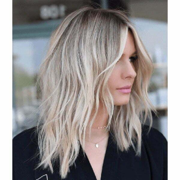 blond short hair style