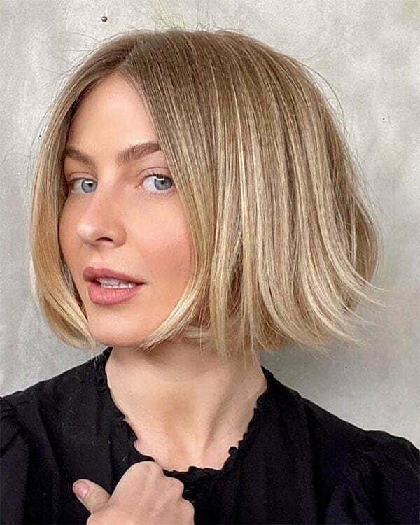 blonde color for short hair