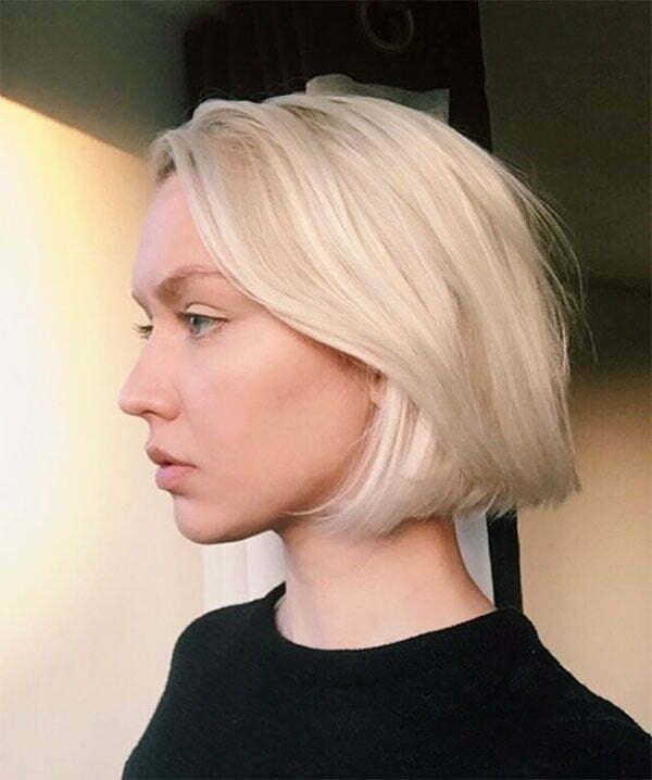 blonde hair color for short hair