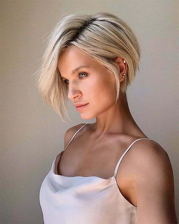 blonde hair cut