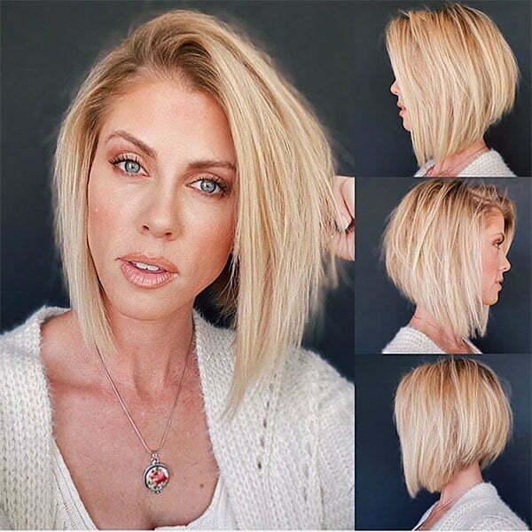 blonde hair cuts short