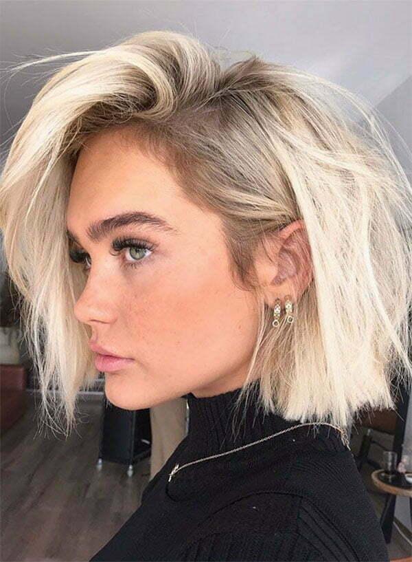blonde on short hair