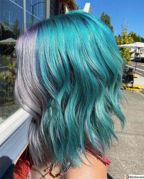 blue color hair