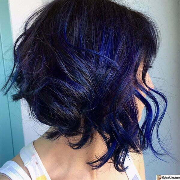 blue hair color women