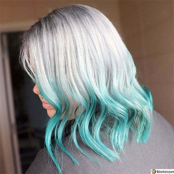 blue hair for women