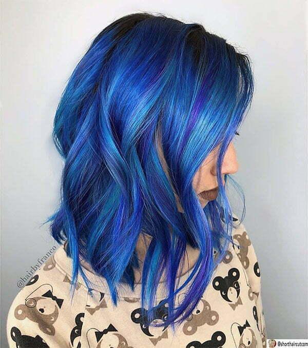 blue hairdos