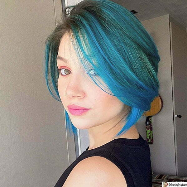 blue hairstyles