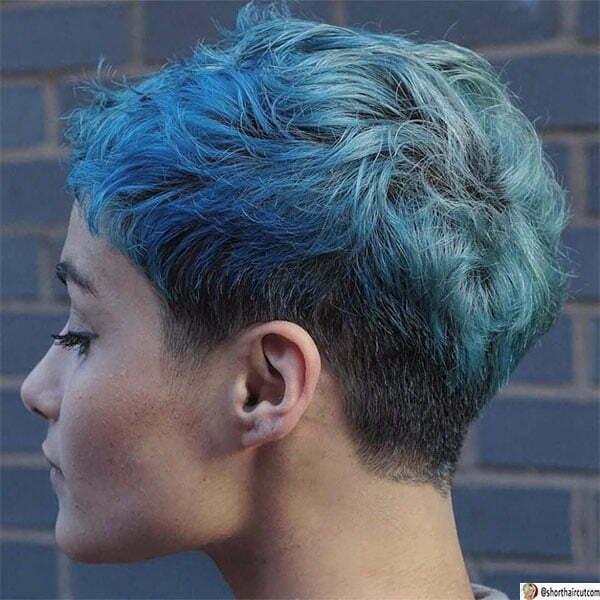 blue hairstyles women