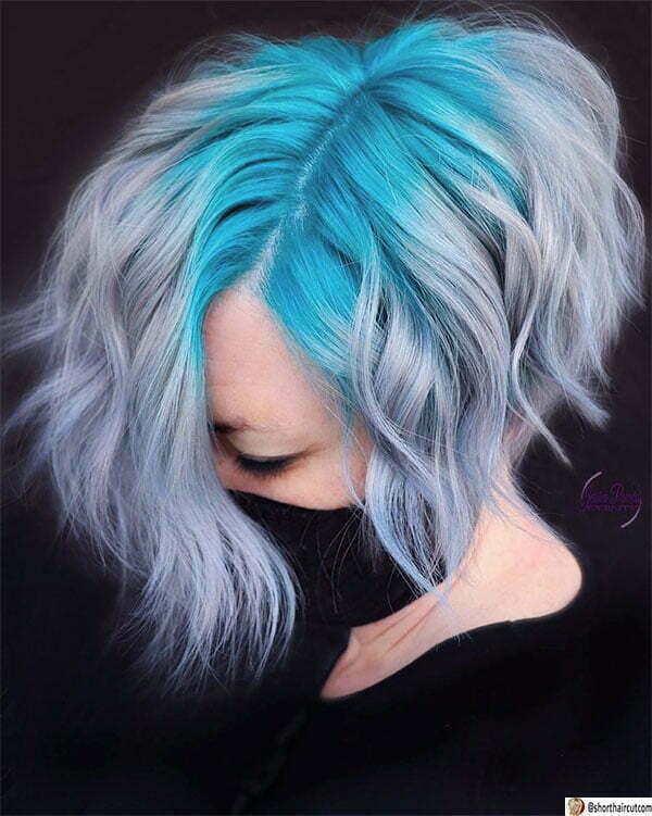 blue short cut
