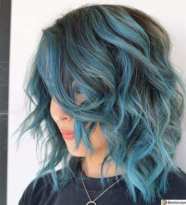 blue short hair cuts