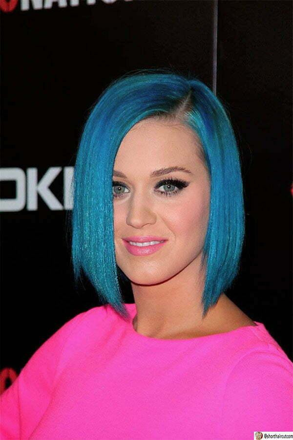blue short hair style