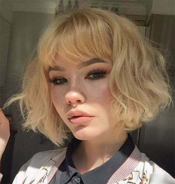 cool blonde short hair