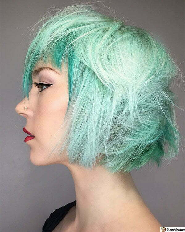 cool blue hairstyles