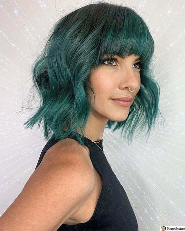cool green hair